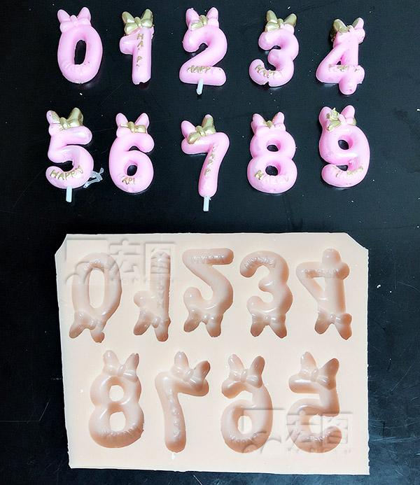 数字蜡烛硅胶模具定制